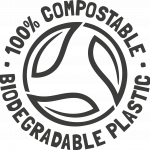 Compostable logo black